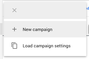 and select 'new campaign'